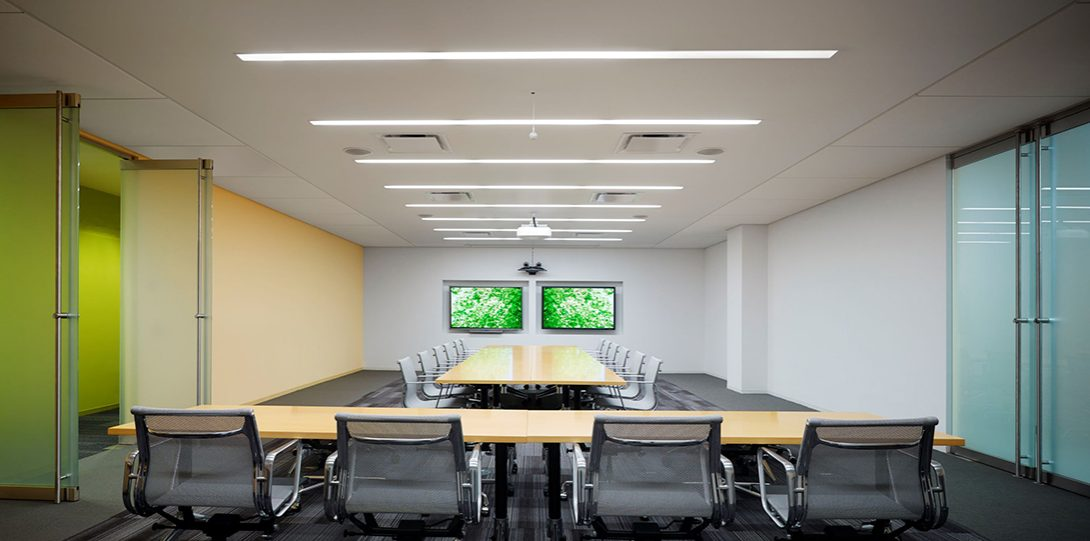 large conference room with 'u' configuration