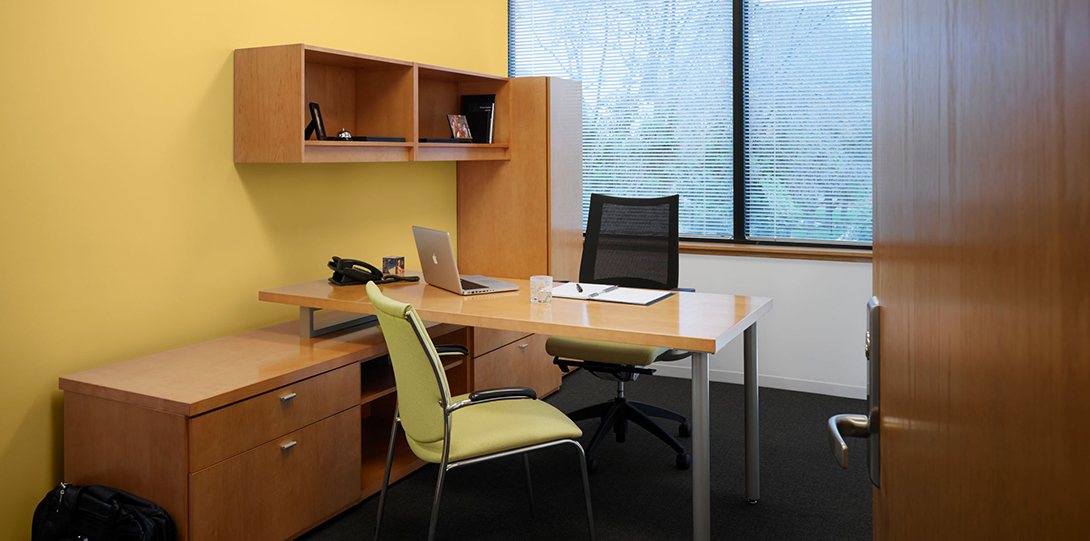 office space with two chairs