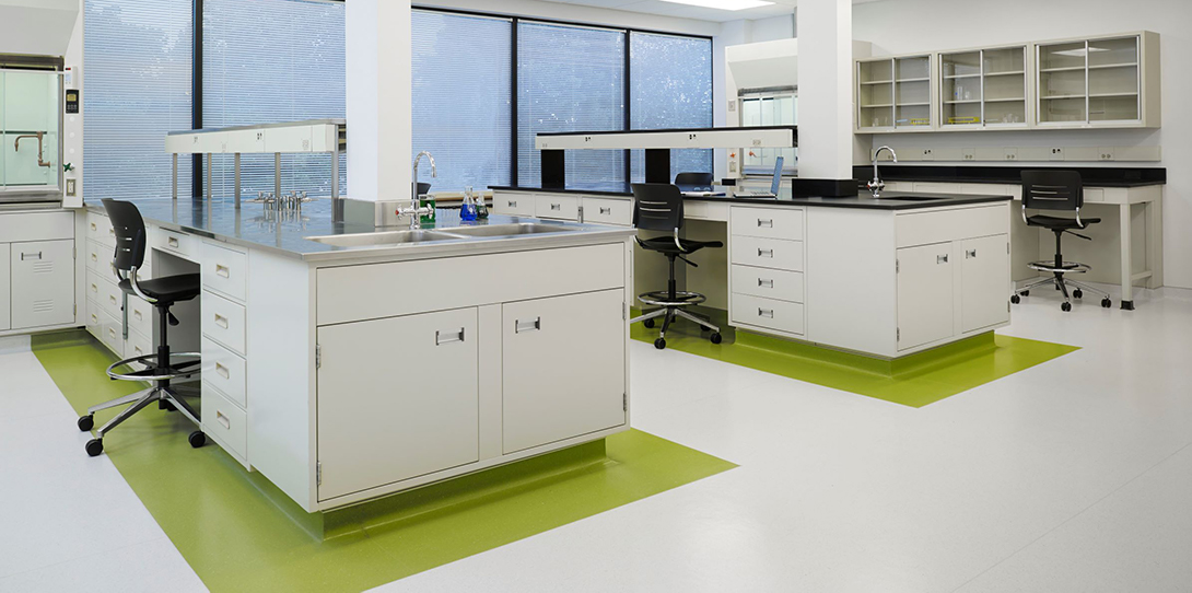 lab bench tops in shared lab space